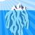 Vector illustration of iceberg floating in water stock fotó © tuulijumala