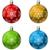 color christmas decoration ball vector set with snowflake shape stock photo © tuulijumala