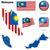 Malaysia · offiziellen · Flagge · Sonne · Design · Welt - stock foto © tuulijumala