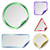 blank stickers with color glossy back isolated on white backgrou stock photo © tuulijumala