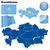 Kazahsztán · vektor · szett · részletes · vidék · forma - stock fotó © tuulijumala
