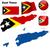 mapa · democrático · república · capitales · ciudad · color - foto stock © tuulijumala