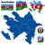 Azerbajdzsán · vektor · szett · részletes · vidék · forma - stock fotó © tuulijumala