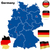 germany vector set detailed country shape with region borders stock photo © tuulijumala