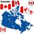 Канада · вектора · набор · подробный · стране · форма - Сток-фото © tuulijumala