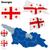Grúzia · vektor · szett · részletes · vidék · forma - stock fotó © tuulijumala