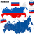 Rusland · kaart · vector · iconen · communie · liefde - stockfoto © tuulijumala