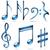 partituras · símbolos · conjunto · diferente · piano · teclado - foto stock © tuulijumala