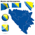 Bosnië-Herzegovina · vector · ingesteld · gedetailleerd · land · vorm - stockfoto © tuulijumala