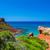 mediterranean sea view from menorca island coast at cala del pil stock photo © tuulijumala