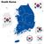 韓国 · ベクトル · セット · 詳しい · 国 - ストックフォト © tuulijumala