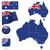 Австралия · вектора · набор · подробный · стране · форма - Сток-фото © tuulijumala
