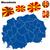 europeu · ícones · bandeiras · jpg · illustrator · eps10 - foto stock © tuulijumala