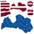 Lettország · vektor · szett · részletes · vidék · forma - stock fotó © tuulijumala
