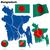 botão · Bangladesh · sol · mapa · país · mapas - foto stock © tuulijumala