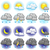 weather vector icons set isolated on white background stock photo © tuulijumala