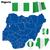 Nigeria · banderą · zestaw · odizolowany · biały - zdjęcia stock © tuulijumala