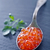 Rood · kaviaar · vork · zwarte · voedsel · groep - stockfoto © tycoon