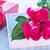 kunst · wenskaart · rode · rozen · geschenkdoos · bruiloft · partij - stockfoto © tycoon