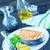 жареный · лосося · пластина · таблице · лимона · вилка - Сток-фото © tycoon