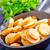 フライド · ジャガイモ · 画像 · ニンニク · スパイス · 木製のテーブル - ストックフォト © tycoon