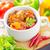 hortalizas · carne · madera · cocina · mesa - foto stock © tycoon