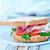 due · sandwich · carta · da · imballaggio · indietro · terra · pomodori - foto d'archivio © tycoon