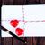 hart · post · houten · papier · Blauw - stockfoto © tycoon