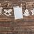 natal · decoração · mesa · de · madeira · papel · árvore · fundo - foto stock © tycoon