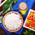 rizs · fából · készült · merőkanál · barna · tányér · konyha - stock fotó © tycoon