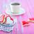 cookies · beker · zoete · drinken · tabel · voedsel - stockfoto © tycoon