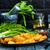 ジャガイモ · 食品 · 指 · ダイエット · マクロ - ストックフォト © tycoon