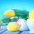 páscoa · ovos · mesa · de · madeira · salgueiro · verde · cesta - foto stock © tycoon