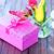 Purple · Tulip · букет · деревянный · стол · копия · пространства · цветы - Сток-фото © tycoon