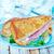 закуска · сыра · ветчиной · огурца · рожь - Сток-фото © tycoon