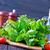 トマト · サラダ · バジル · チーズ · オリーブオイル · ニンニク - ストックフォト © tycoon