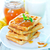 waffles with apricot jam stock photo © tycoon