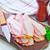 fumado · bacon · comida · fundo · cozinha · jantar - foto stock © tycoon