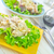 sağlıklı · ızgara · domuz · pastırması · peynir · yaprak - stok fotoğraf © tycoon