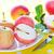 fresche · rosso · mele · basket · tavolo · in · legno - foto d'archivio © tycoon