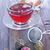 teáskanna · fehér · csésze · címke · sötét · fa · asztal - stock fotó © tycoon
