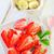 fehér · edény · eper · gyümölcs · desszert · gyönyörű - stock fotó © tycoon