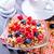 健康 · 朝食 · ヨーグルト · ブルーベリー · ガラス · 布 - ストックフォト © tycoon