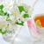 taza · de · té · frescos · flor · flores · mesa · beber - foto stock © tycoon
