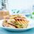szynka · ser · jaj · kanapki · deska · do · krojenia · żywności - zdjęcia stock © tycoon