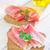 Бублики · сэндвич · салями · белый · пластина · продовольствие - Сток-фото © tycoon