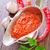 pomodoro · cucchiaio · rosso · basilico · foglie · legno - foto d'archivio © tycoon