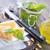 tigela · macarrão · pesto · parmesão · comida · ervas - foto stock © tycoon