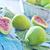 свежие · пластина · текстильной · текстуры · зеленый · десерта - Сток-фото © tycoon