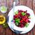 salade · saladeschaal · tabel · natuur · achtergrond · eten - stockfoto © tycoon